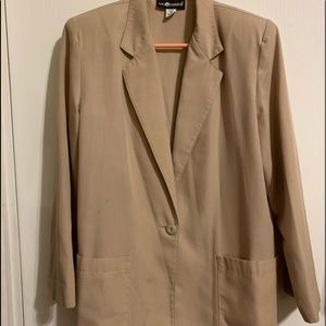 SAG HARBOR - sz 12 - Taupe Jacket w/pockets $10
